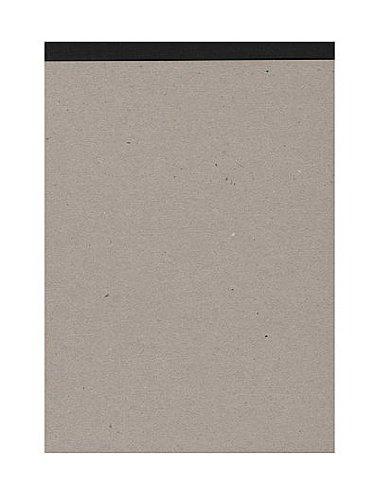 Projektskizzenbuch / Zeichenbuch, DIN A5 (quer), 144 Seiten Einband natur, Rücken SCHWARZ