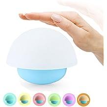 AFAITH LED Luz de la noche LED Luz ambiental Lámpara en forma de hongoCon 7 colores que cambian Lámpara táctil Lámparas de Cama Para habitaciones Adultos Niños Bebé Color Azul SA053B