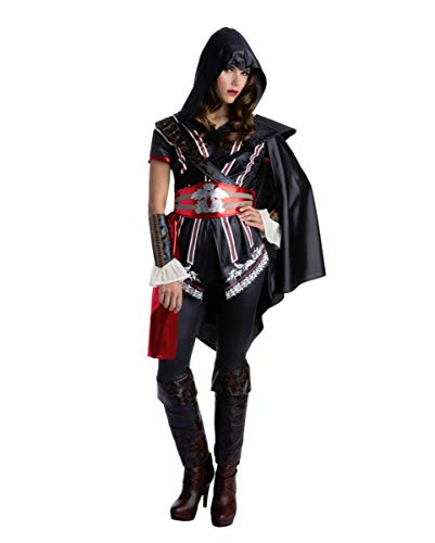 Horror-Shop Assassins Creed Ezio Auditore Kostüm für Damen zu Halloween und Karneval L (Für Erwachsene Assassins Creed Ezio Kostüm)