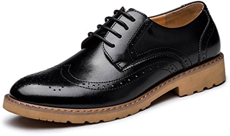CHENSH Männer Casual Leder Schuhe Bulls Bulls Herren Schuhe Bestickte Hosen