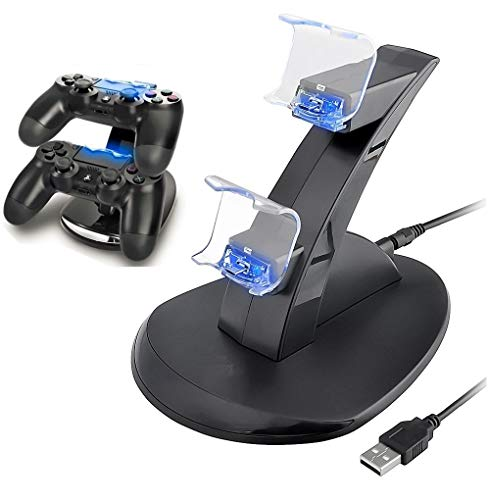 PS4 Controller Ladegerät Playstation 4 / PS4 Slim / PS4 PRO / PS4 Controller Ladestation Ladestation Dual USB Fast Charging Ps4 Station LED Anzeige für Sony PS4 Controller von IHK