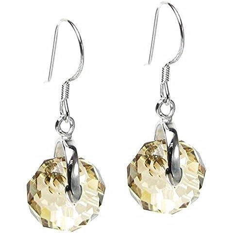 Queen Berry in argento cristalli Swarovski Elements Orecchini orecchino Briolette - Swarovski Cristallo Briolette Orecchini