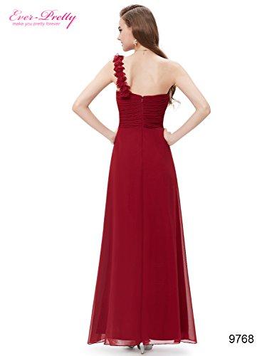 Ever-Pretty - Robe De Soirée - Asymétrique - Sans Manche - Femme Rouge