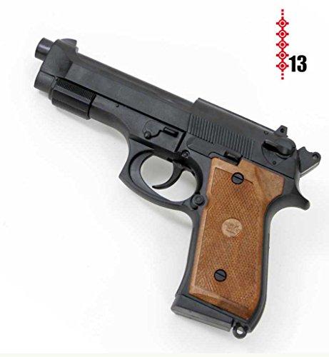 Pistole Parabellum, (13er-Streifen Munition), ca. 19 cm Länge, Spielzeugpistole, Spielzeug, Kinderspielzeug, Karnevalsaccessoire, Kostümzubehör, Rollenspiele, Kinderrollenspiele, Karneval -