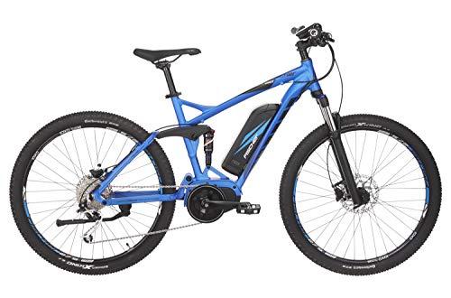 "FISCHER E-Bike MTB EM 1862.1 (2019), blau matt, 27,5\"", RH 48 cm, Mittelmotor 80 Nm, 48V Akku"