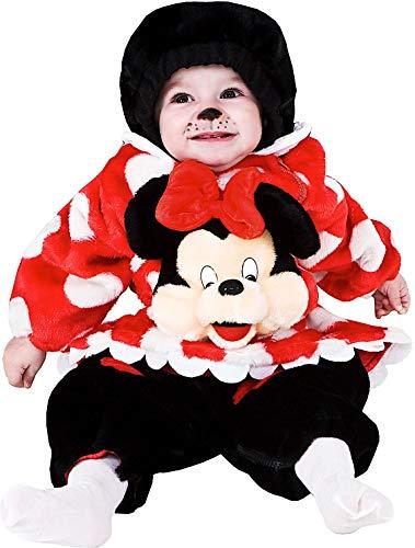 Costume di carnevale da piccola topoletta vestito per neonato bambino 3-12 mesi travestimento veneziano halloween cosplay festa party 88383 taglia 6-9