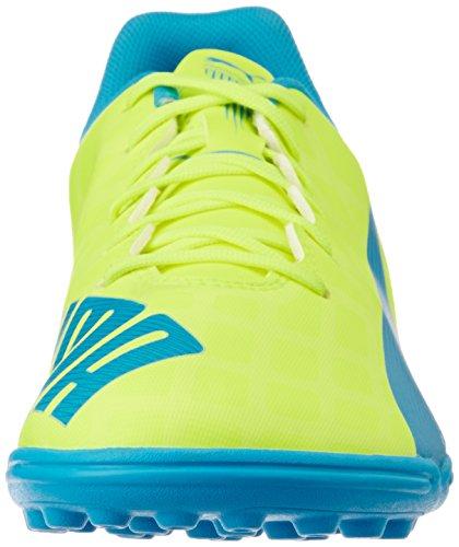 Puma - Evospeed 5.4 Tt, Scarpe Da Calcio da uomo Gelb (safety yellow-atomic blue-white 04)