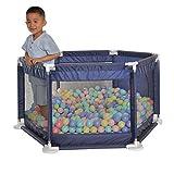 Laufgitter & -ställe Kinderspielzaun Spiel Laufstall Sicherer und Stabiler Schutzzaun Indoor-Spielplatz Geschenk des Kindes (Color : Blue, Size : 130x130x65cm)