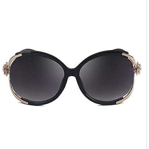 gafas de sol de las se?oras nuevo 2016 Europa Camelia ahuecando las caja grande gafas peque?as dulces gafas de sol moda