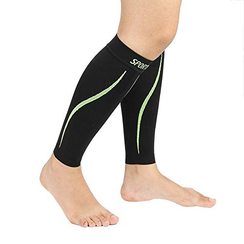 Miji Calf Compression Sleeve, Sports Leg Shin Support Leg Pain Relief  Exercise Prevent Calf Cramps for Running, Playing, Cycling, Traveling for  Men &