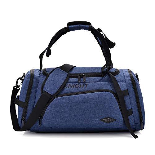 Huanxin Sport-Sporttasche, 35 l wasserdichte, Faltbare Taschen, mit Schuhfach, für Unisex Weekend Daypack Große Reisetasche,a
