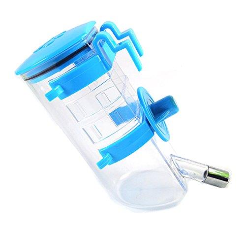 Pet 350 ml Wasser Trinken Springbrunnen, Stahl Ball automatisch Füttern Wasser zum Aufhängen Wasserkocher Wasser Flasche für Hunde/Katzen (blau)