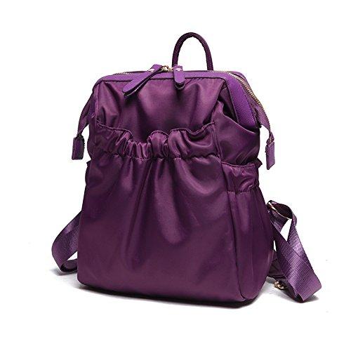 Meoaeo Travel Zaino Borsa Marea Semplice Tutti I Match Di Viaggio Impermeabile Rose Red Violet