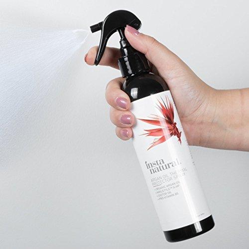 InstaNatural Wärmeschutz-Spray – Mit Bio-Arganöl – bestes Wärmeschutzmittel für Ihre Haare – Rizinusöl & Vitamin B5 – Verhindert Trockenheit, Schädigungen & Spliss – 240 ml - 3