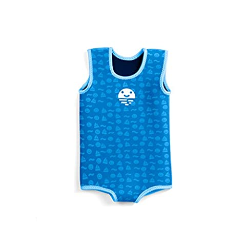 Orby Wrap Warm Neoprene Safe Baby Boy Pool Float Clothing Swimming Wet Suit (6 - 12 Months, Blue)