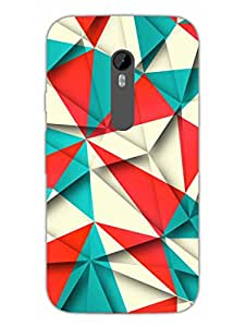 Moto G3 Back Cover - Triangular Pattern - Designer Printed Hard Shell Case