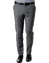 RENÉ LEZARD Herren Hose Schurwolle Pant Meliert, Größe: 50, Farbe: Grau