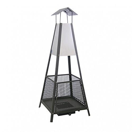 Feuerstelle Terassenkamin Gartenfeuer Feuerkorb Terrassenfeuer 50 x 50 x 130 cm