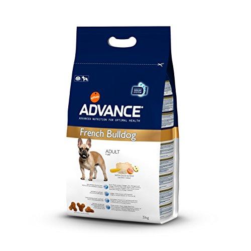 Advance Croquettes pour Chien Adulte French Bulldog Canard et Riz 3 kg