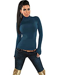 In Style–Jersey para mujer Manga larga con cuello alto