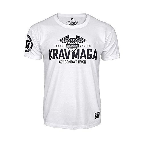 Thumbs Down Krav MAGA T-Shirt. Israel System. 67th Combat DVSN. MMA. Kampfkünste. Gym. Training. Martial Arts. Casual (Größe XXLarge) (T-shirt Krav Herren Maga)