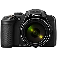 Nikon COOLPIX P600 Digital Camera - Black (16.1 MP, 60x Zoom) 3.0 inch Vari-angle LCD Electronic Viewfinder with Wi-Fi