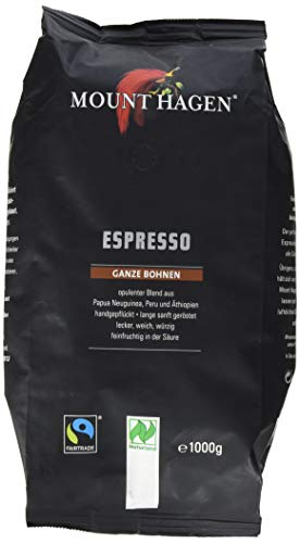 Mount Hagen Espresso ganze Bohne, 1000 g