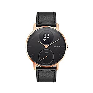 Withings Unisex's Steel HR Connected Smart Watch, Rose Gold/Black, 36 mm
