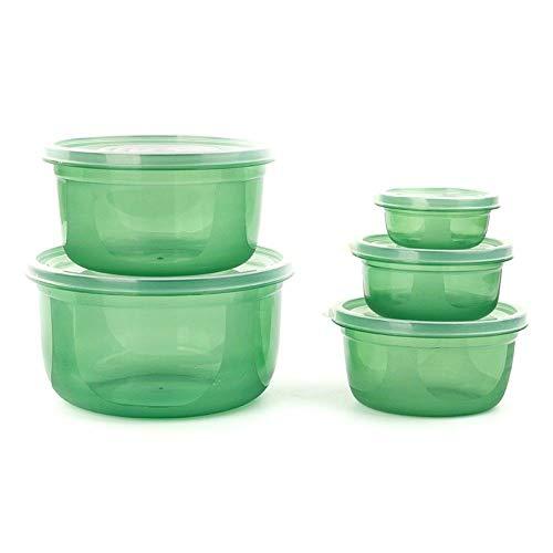Bei2O brotdose lunch box kühlschrank aufbewahrungsbox kunststoff mikrowelle versiegelt knödel-box obst-box lebensmittel-box 5-teiliges set grüne küche erwachsene kinder büro schule (Mikrowelle Knödel)