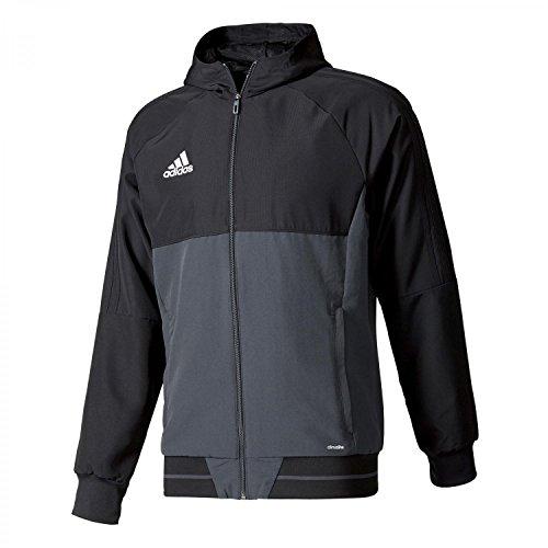 Adidas giacca da presentazione Uomo Tiro 17 black/dark grey/white