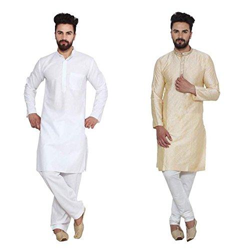 Royal Men's Designer Kurta Pajama and Churidar Combo 38 Multi-coloured