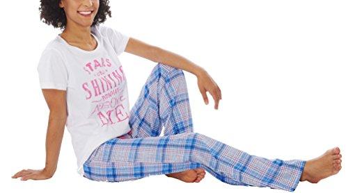 Ensemble de Pyjama pour femme Manches courtes 100% Coton Blanc