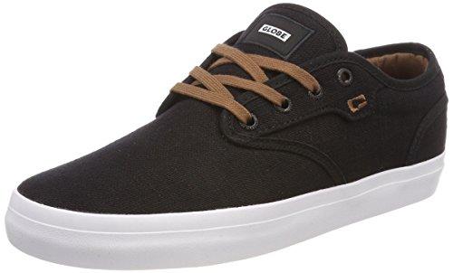 Globe Schuhe Schwarz (Globe Herren Motley Skateboardschuhe, Schwarz (Black Hemp), 45 EU (11.5 US))
