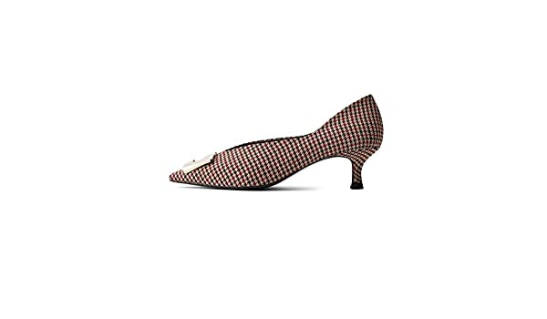 4c05fa9f94f25 Uterque Women's Embellished Fabric mid Heel Court Shoes 4072/051 ...