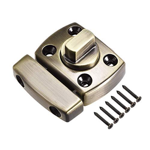 ZCHXD Rotate Bolt Latch, 1-inch Zinc Alloy Security Door Slide Lock (Bronze) -