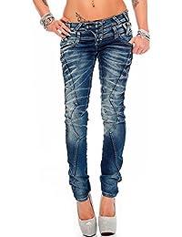 Cipo & Baxx Damen Jeans Hose Hüftjeans Skinny Slim Fit Stretch