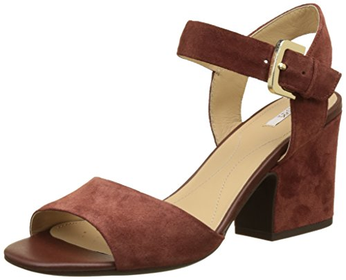 Geox d marilyse b, sandali con zeppa donna, marrone (cigarc6007), 35 eu