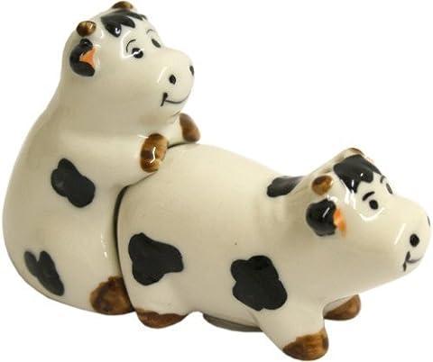 Kinky Cow Cruet Salt & Pepper Shakers Set Pots Ornament