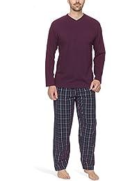 Herren Schlafanzug mit Webhose - Moonline