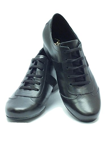 Scarpa da uomo per ballo caraibico colore nero tacco 20 Nero