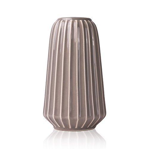 Hannah\u0027s Cottage Outdoor Paradise Keramik Vasen, Blumenvase 19cm Vase Grau  Handgefertigte Moderne