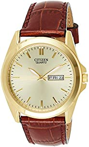 Citizen Men's Goldtone Watch with Brown Leather S