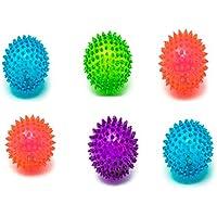 Bounce Spike Balls Pico de Rebote con luz LED Intermitente, 6,5 cm, 6 Unidades, Azar