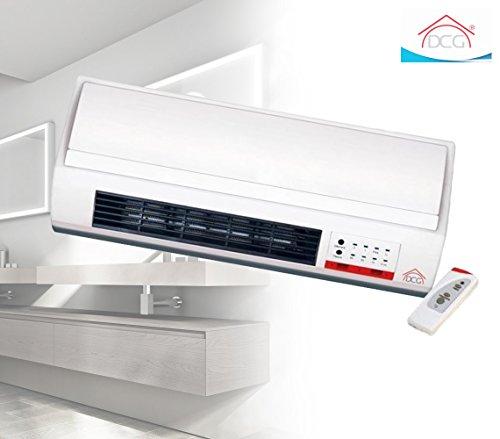 MEDIA WAVE store Termoventilatore a parete DCG TCM55T 2000 Watt termobagno + telecomando