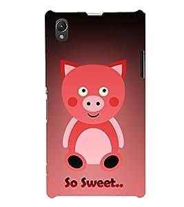 Teddy Bear 3D Hard Polycarbonate Designer Back Case Cover for Sony Xperia Z1 :: Sony Xperia Z1 L39h