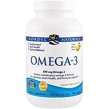 Omega-3, limón, 1.000 mg, geles suaves 180 - Naturals nórdicos