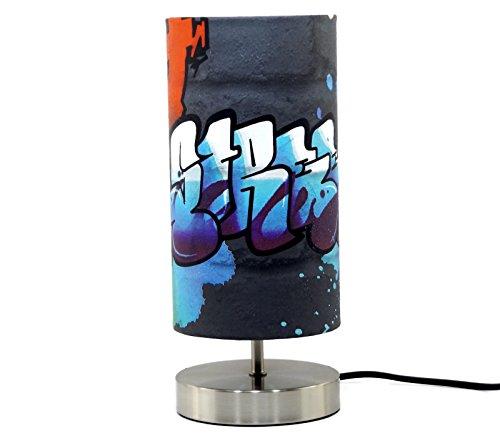 Table Lamps For Teen Boys : Graffiti lamp light lampshade bedside bedroom table desk