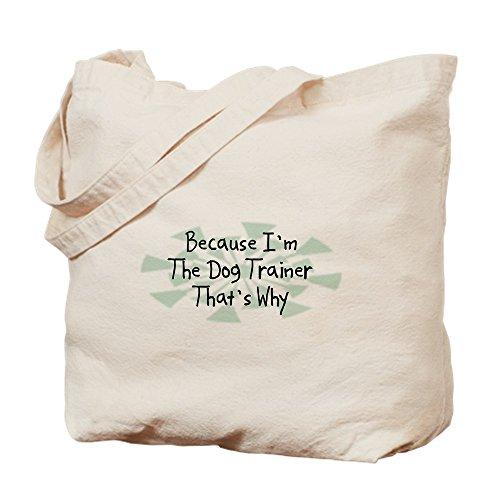 CafePress-Denn Dog Trainer-Leinwand Natur Tasche, Reinigungstuch Einkaufstasche Tote S khaki - Dog Design Tee T-shirt