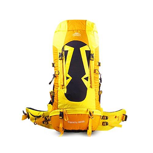 amanti di borsa all'aperto alpinismo/ viaggio trekking zaino/Multi-funzionali Zaini equitazione-giallo giallo