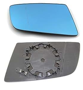 DoctorAuto DR165922 Miroir Glace Verre de Rétroviseur Extérieur Avec le Support en Plastique Droite Chauffante